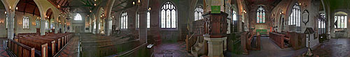 Panoramic view of the interior of St. Mary's Church, Goudhurst