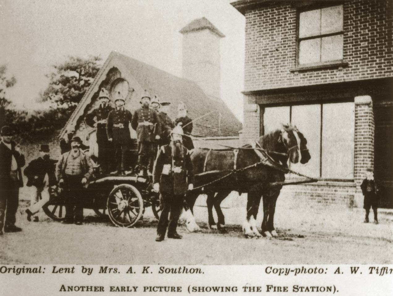 Early fire steam engine, Goudhurst Fire Station