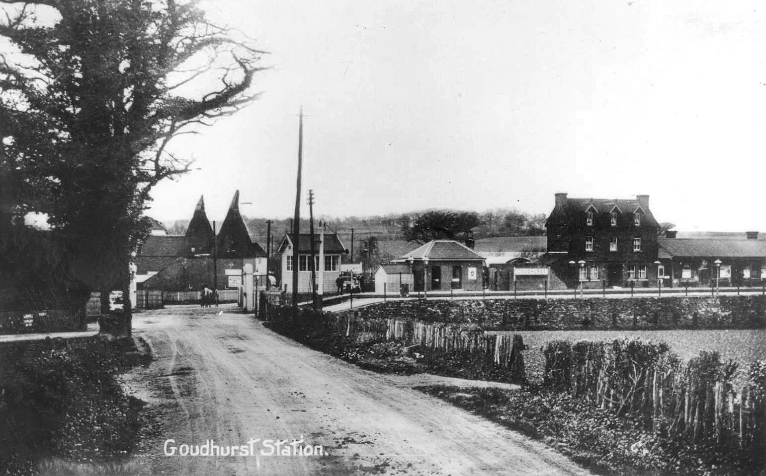 Goudhurst railway station from Station Road in the early 1900s