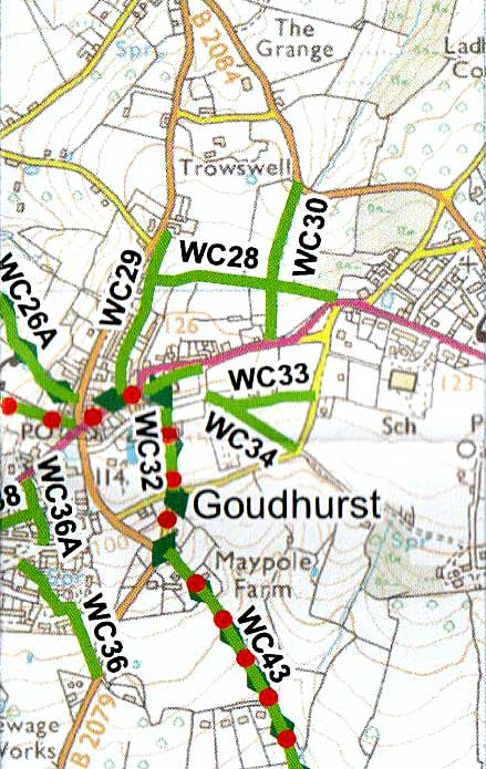 Goudhurst Walker's Map