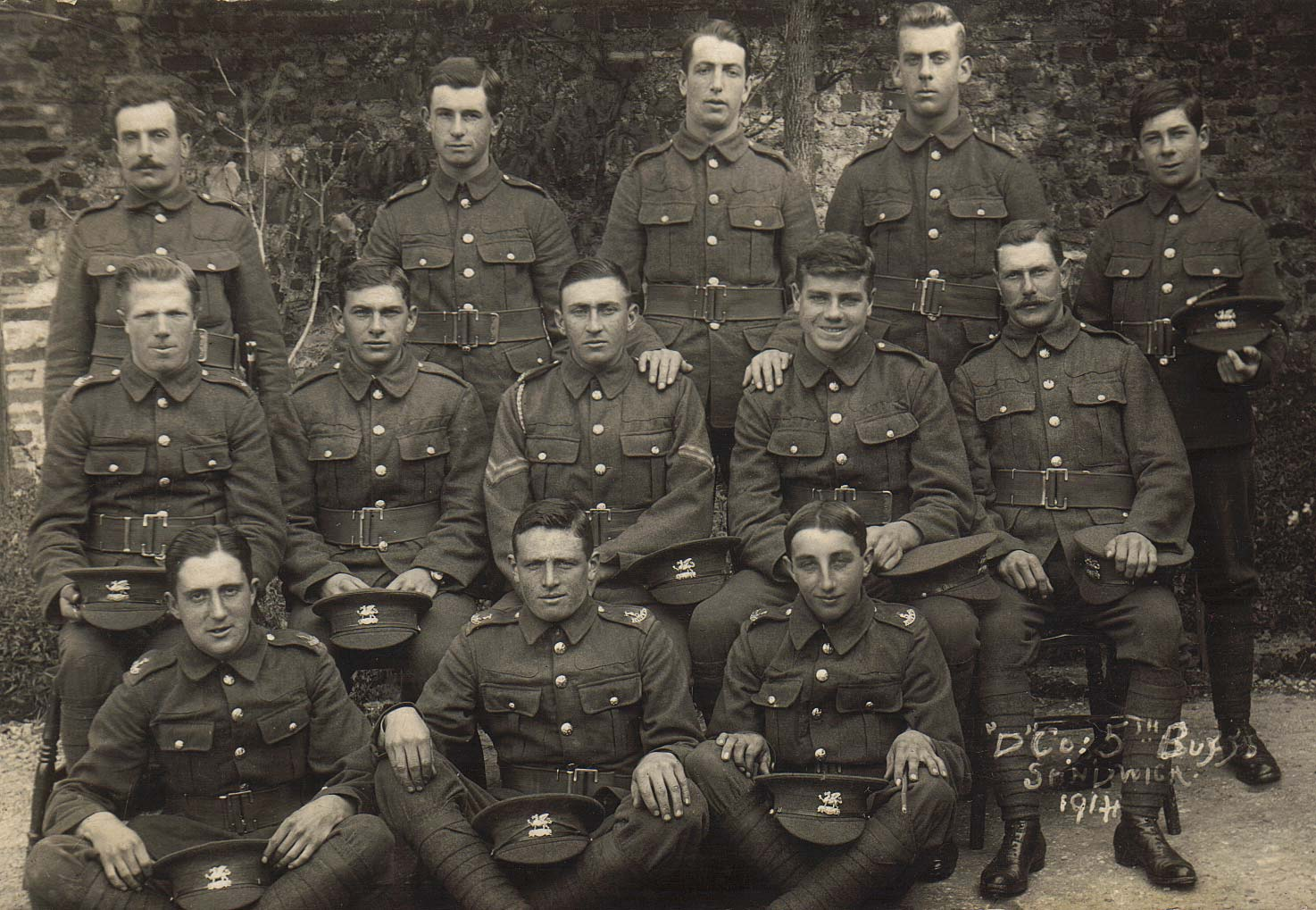 D Company 5th Buffs, Goudhurst, World War One,1914