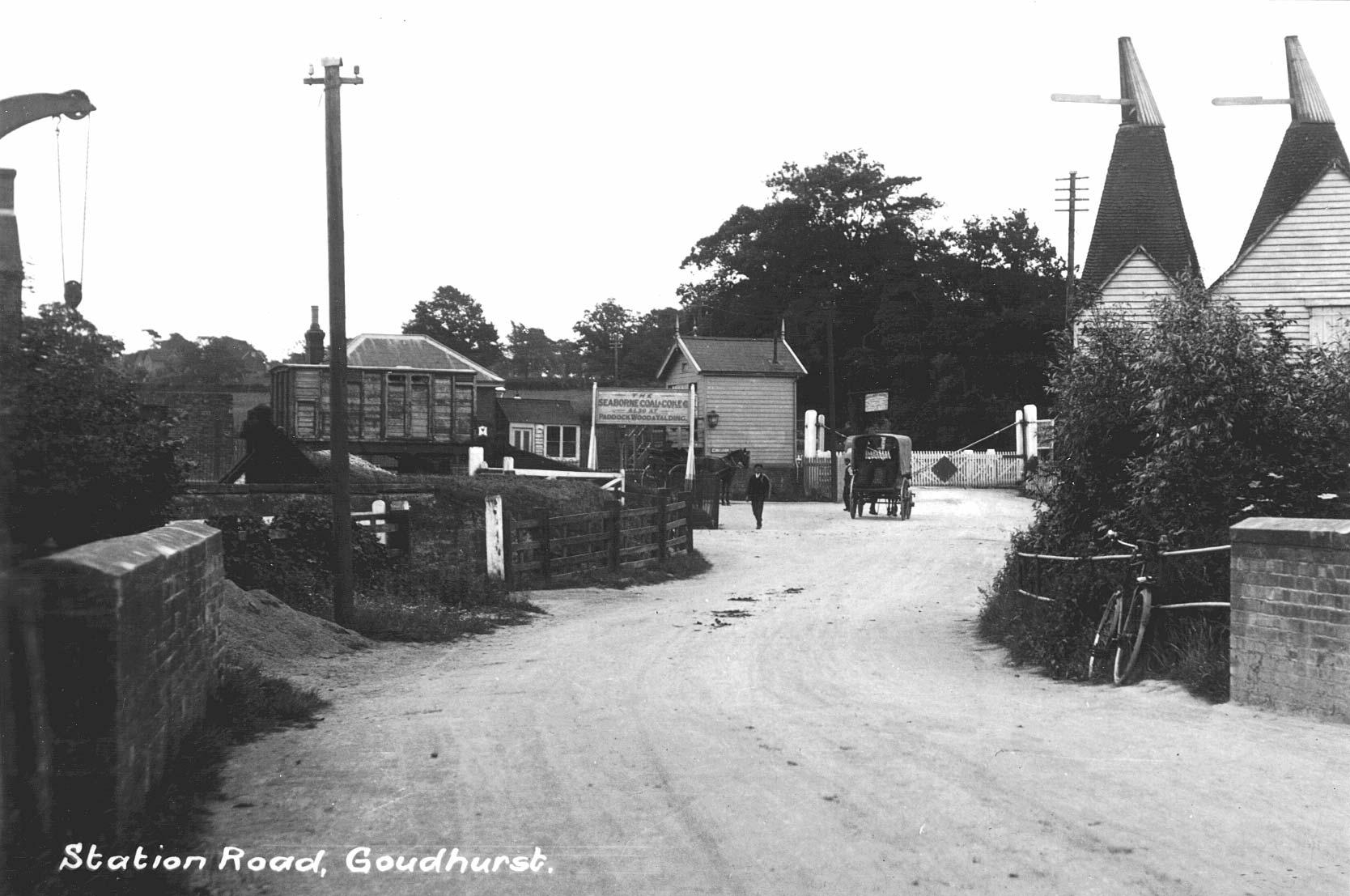 Goudhurst signal box, Goudhurst to Paddock Wood Branch line, pre 1961