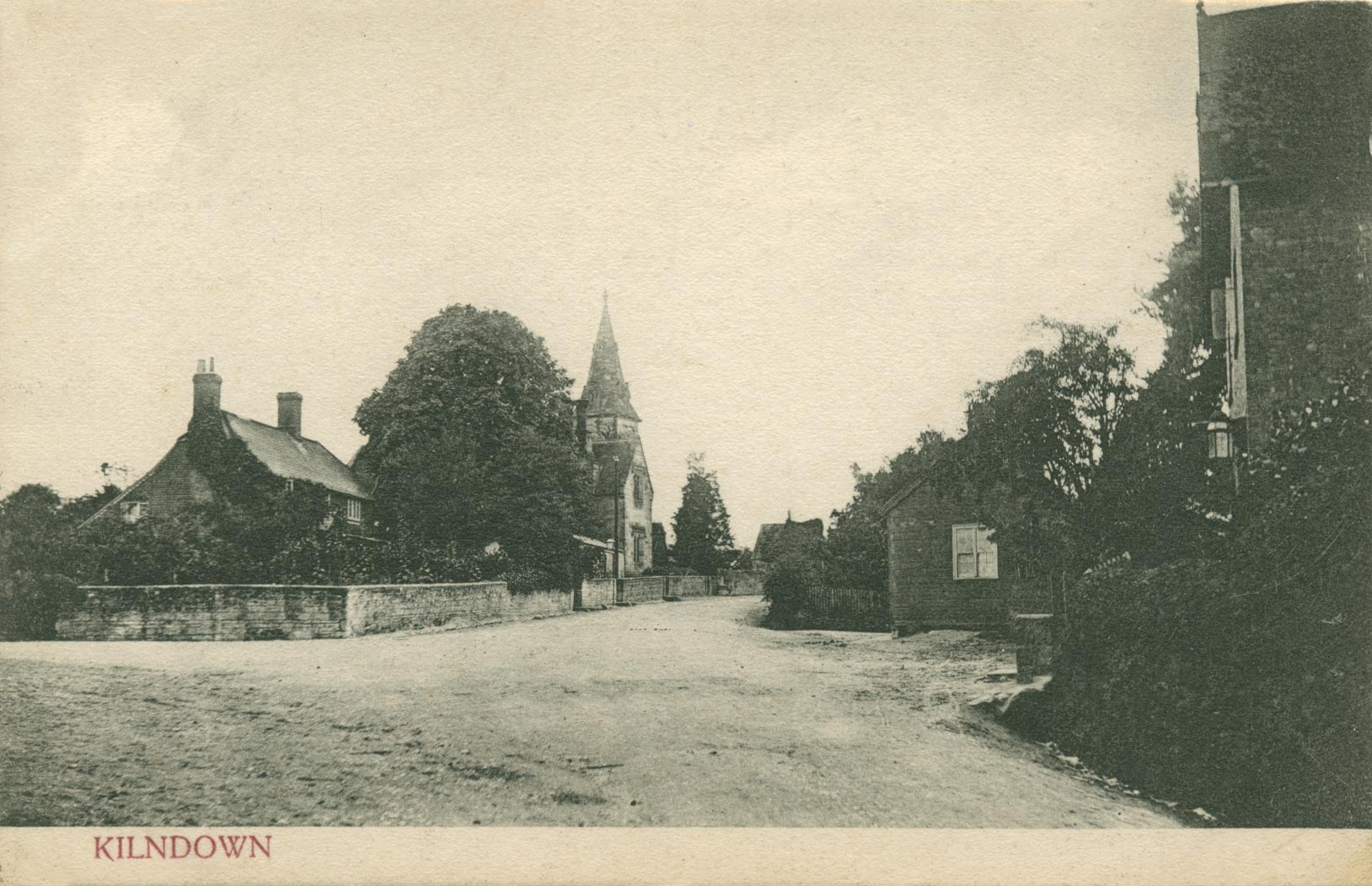 Kilndown village centre and Christ Church