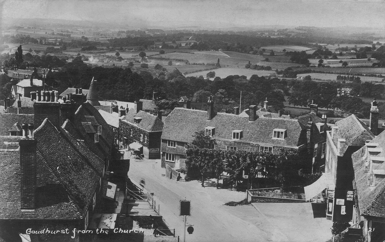 View from church tower pre-1922